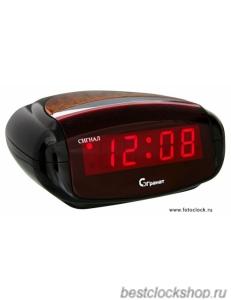 Настольные кварцевые часы с будильником ГРАНАТ/Granat С-0616-Красн.