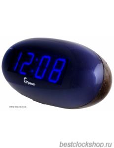 Настольные кварцевые часы с будильником ГРАНАТ/Granat С-0977-Син.