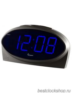 Настольные кварцевые часы с будильником ГРАНАТ/Granat С-1232-Син.