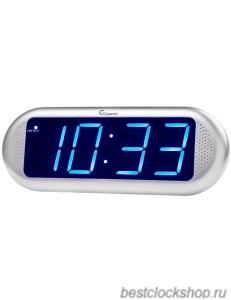 Настольные кварцевые часы с будильником ГРАНАТ/Granat С-1816-Син.