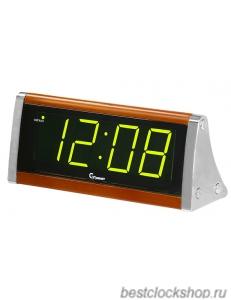 Настольные кварцевые часы с будильником ГРАНАТ/Granat С-1812-Зел.