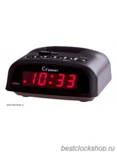 Настольные кварцевые часы с будильником ГРАНАТ/Granat С-0621-Красн