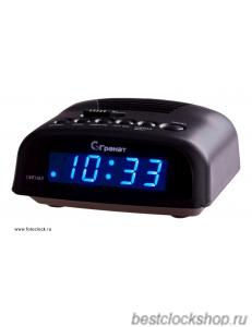 Настольные кварцевые часы с будильником ГРАНАТ/Granat С-0621-Син