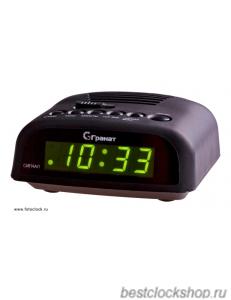 Настольные кварцевые часы с будильником ГРАНАТ/Granat С-0621-Зел