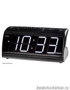 Настольные кварцевые часы с будильником ГРАНАТ/Granat С-1861-Р/Бел