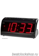 Настольные кварцевые часы с будильником ГРАНАТ/Granat С-1861-Красн