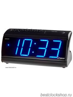 Настольные кварцевые часы с будильником ГРАНАТ/Granat С-1861-Син