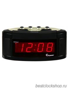 Настольные кварцевые часы с будильником ГРАНАТ/Granat С-1238-Красн.