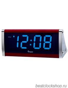 Настольные кварцевые часы с будильником ГРАНАТ/Granat С-1812-Син.