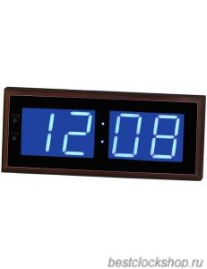Настенные кварцевые часы с большими цифрами ГРАНАТ/Granat С-4009-Син.
