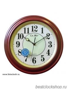Настенные часы La Mer GD051-1 Brown